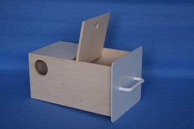 Nestkast parkietenblok hout 16x29x14.5 hoog