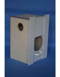 Neophemablok geschikt voor onze Neophema broedkooien. Dit broedblok schuif je in de broedkooi en heeft een hoogte van 28 cm.