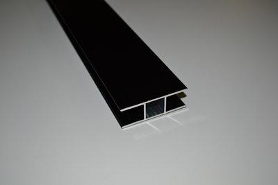 Zwart aluminium met 2 x 16 mm flens