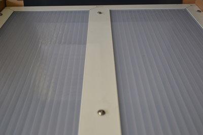 Wit aluminium met 2 x flens 16 mm
