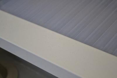 Wit aluminium met 1 x flens 16 mm