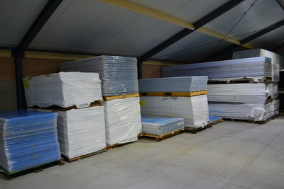 Polycarbonaat plaat helder 98 cm breed